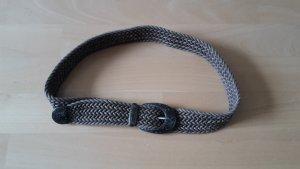 Zero Cintura intrecciata color cammello-argento