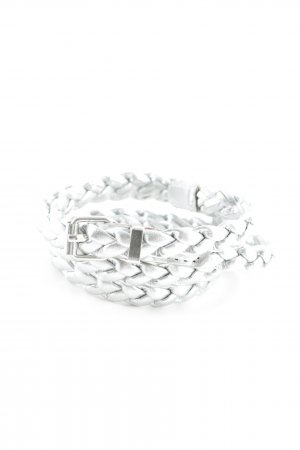 Braided Belt silver-colored elegant