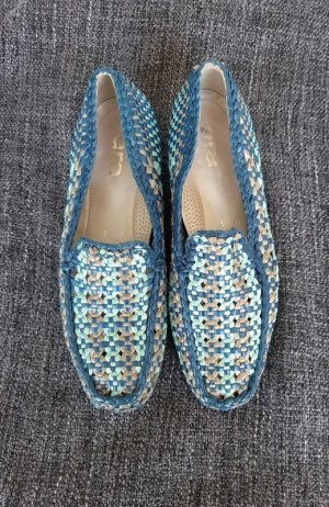 ara Moccasins blue-beige leather