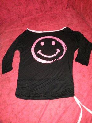 Oversized Shirt black-pink