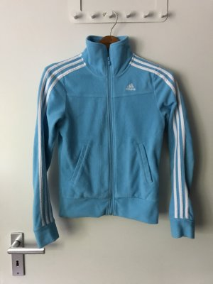 Adidas Fleece Jackets baby blue-white