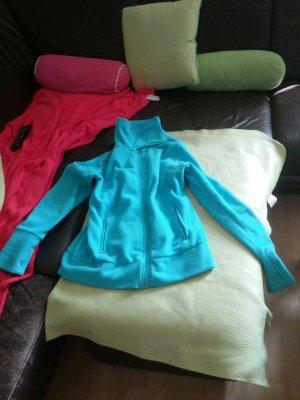 Fleece Jacke blau mit Reißverschluss und 2 Taschen