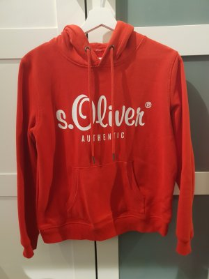 s.Oliver Fleece trui wit-rood