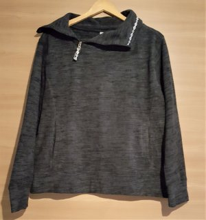 Pullover in pile antracite-nero