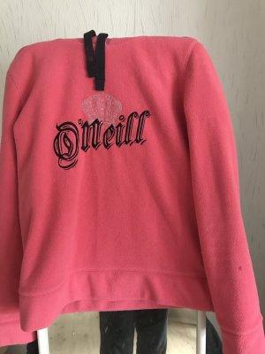 Fleece Pullover in Pink mit Kaputze