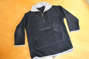 Fleece Pullover Troyer Gr.XL (42) Handarbeit Unikat