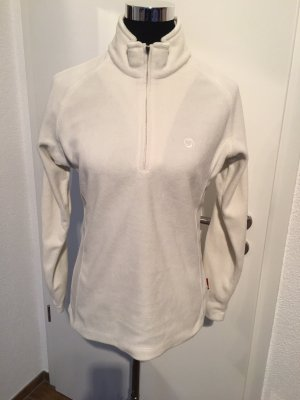 Pullover in pile bianco sporco