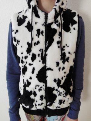 Fleece Weste schwarz/weiß gefleckt Gr. S FBsisiter
