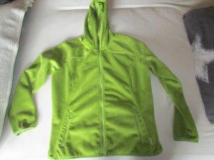 Fleecejacke in einem grün mit Kapuze