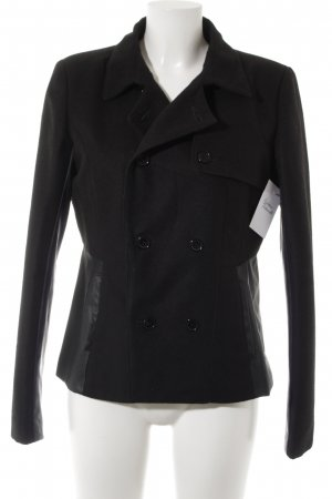 Giacca in pile nero stile casual