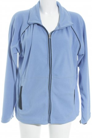 Fleecejacke stahlblau Street-Fashion-Look