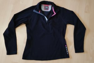 Think! Pullover in pile nero-rosa