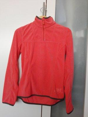 Pullover in pile marrone-albicocca