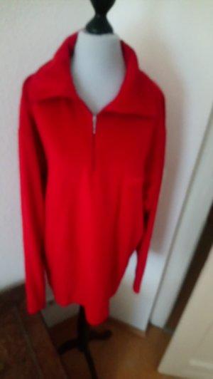 Fleecepullover - rot - Größe 42