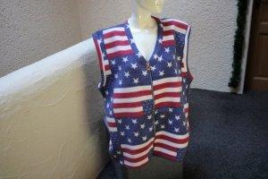 Fleece Vest red-blue polyester