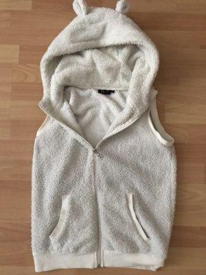 Denim Co. Fleece Vest natural white-white