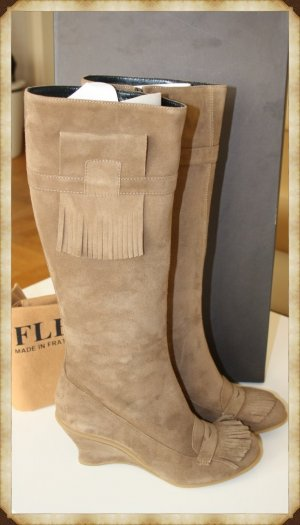 *** FLEXA *** Leder / Wildleder Stiefel GR. 40,5  NEU