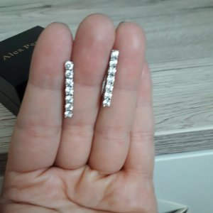 Silver Earrings white-silver-colored real silver