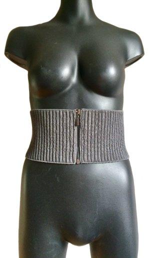 Topshop Cinturón de cadera gris Poliéster