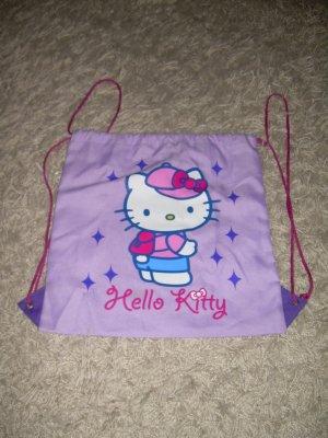 flieder/lila-farbener Turnbeutel Hello Kitty