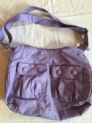 Flieder, lila Tasche mit 2 Druckknopftaschen an der Vorderseite