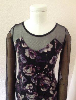 Flieder-schwarzes Rosenkleid von H&M
