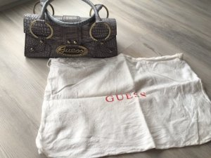 Guess Carry Bag grey violet leather