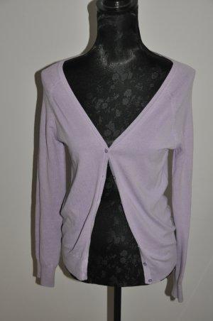 Zara Veste en tricot bleu violet-violet coton