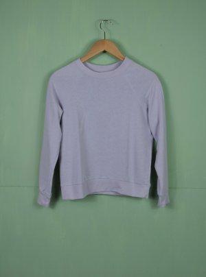Fliederfarbener Basic Pullover