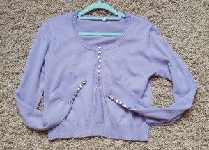 Fliederfarbenes Cropped Shirt