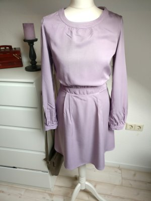Fliederfarbenes Kleid Business Justfab Neu tailliert Retro Rockabilly Langarm