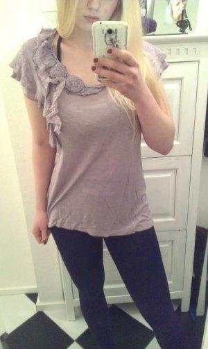 fliederfarbenes T-Shirt von Zero
