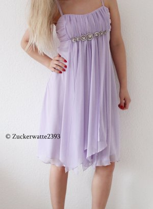 Fliederfarbiges Cocktailkleid Abendkleid 36/S Heine <3 mit Strass
