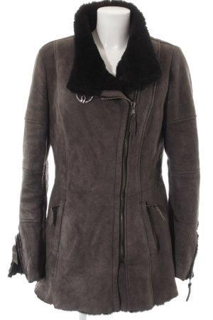 Flight Jacket grey brown casual look