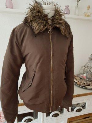 Fliegerjacke m. abnehmbaren Fake-Fur-Kragen Gr. 42 H&M