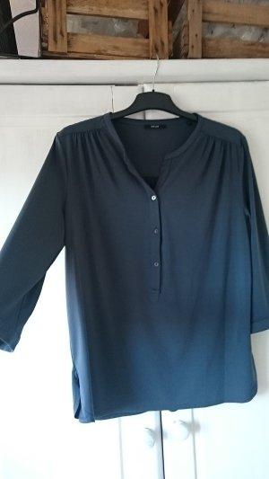 Fließende Bluse Anthrazit Modell FIVIAN