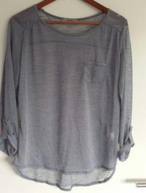 Fließende Bluse in grau