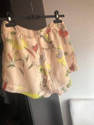 Fließende Rosé Shorts, Blumen, Sommer, H&M