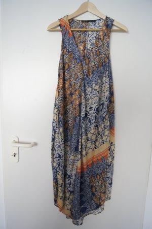 Zara Robe mi-longue multicolore synthétique