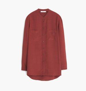 Mango Suit Camicia a maniche lunghe carminio Viscosa