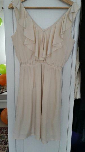Fließendes Kleid in puderfarben