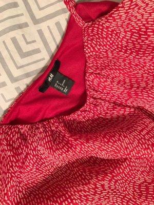 H&M Flounce Dress dark red