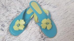 Sandalo infradito blu-verde