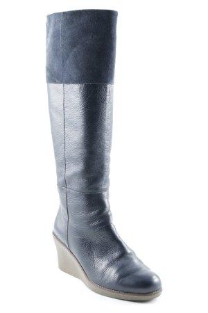 Flip*flop Absatz Stiefel dunkelblau-beige Casual-Look