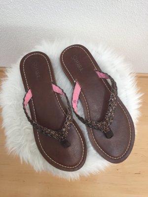 Sandalo infradito marrone scuro