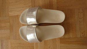 Flip Flop Pantoletten  Gold