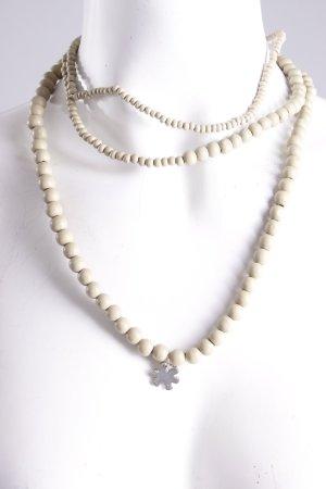 Flip Flop Perlenkette grüngrau