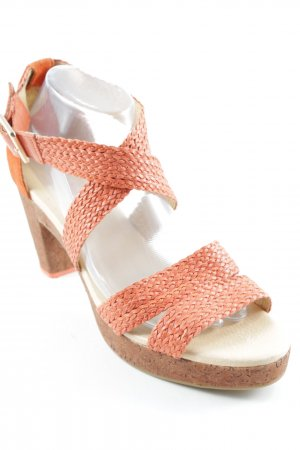 Flip*flop Strapped High-Heeled Sandals salmon casual look