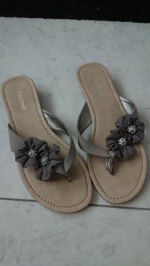 Graceland Sandalo infradito marrone-grigio-beige