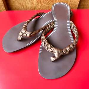 High-Heeled Toe-Post Sandals brown-sand brown